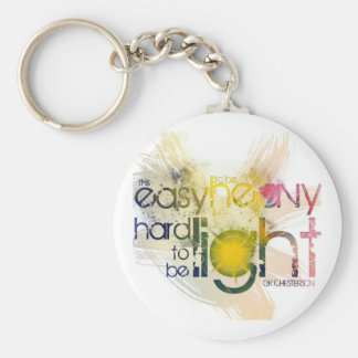 it is easy to be heavy, hard to be light keychain