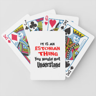 IT IS ESTONIAN THING DESIGNS BICYCLE PLAYING CARDS