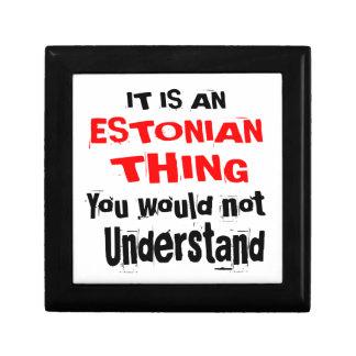 IT IS ESTONIAN THING DESIGNS GIFT BOX
