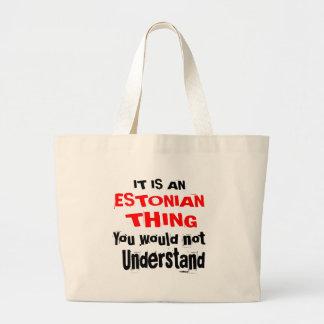 IT IS ESTONIAN THING DESIGNS LARGE TOTE BAG