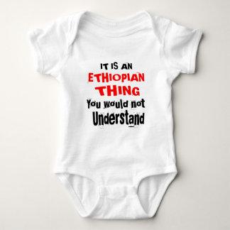 IT IS ETHIOPIAN THING DESIGNS BABY BODYSUIT