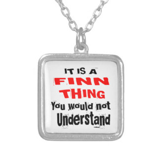 IT IS FINN THING DESIGNS SILVER PLATED NECKLACE