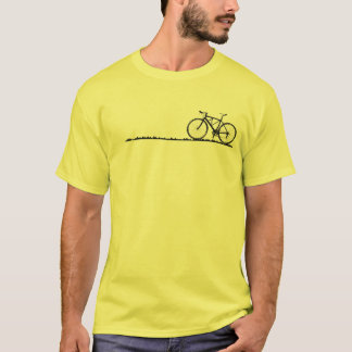 It is full with the bicycle and is ill-smelling T-Shirt
