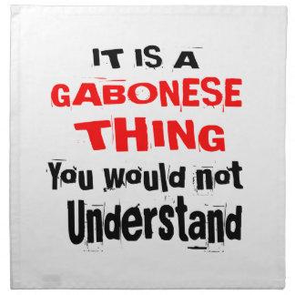 IT IS GABONESE THING DESIGNS NAPKIN