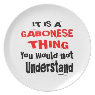 IT IS GABONESE THING DESIGNS PLATE