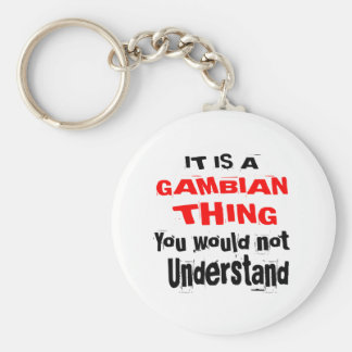 IT IS GAMBIAN THING DESIGNS KEYCHAIN