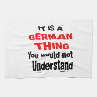 IT IS GERMAN THING DESIGNS KITCHEN TOWEL