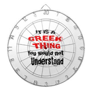 IT IS GREEK THING DESIGNS DARTBOARD