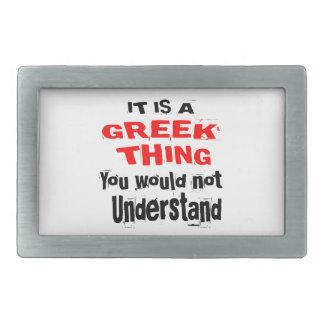 IT IS GREEK THING DESIGNS RECTANGULAR BELT BUCKLES