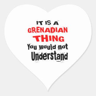 IT IS GRENADIAN THING DESIGNS HEART STICKER