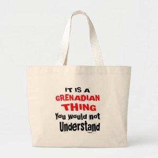 IT IS GRENADIAN THING DESIGNS LARGE TOTE BAG