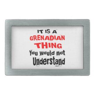 IT IS GRENADIAN THING DESIGNS RECTANGULAR BELT BUCKLES