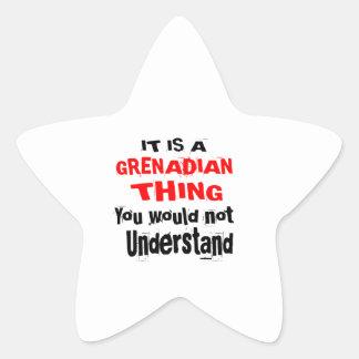 IT IS GRENADIAN THING DESIGNS STAR STICKER