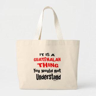 IT IS GUATEMALAN THING DESIGNS LARGE TOTE BAG