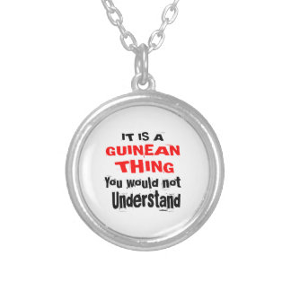 IT IS GUINEAN THING DESIGNS SILVER PLATED NECKLACE