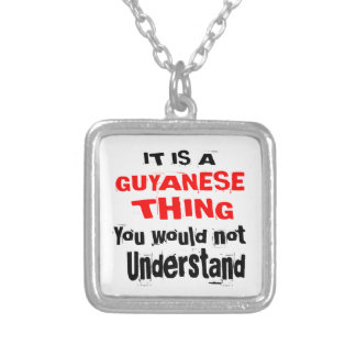 IT IS GUYANESE THING DESIGNS SILVER PLATED NECKLACE