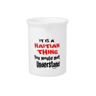 IT IS HAITIAN THING DESIGNS PITCHER