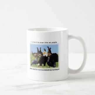 It is hard to soar like an eagle quotation coffee mug
