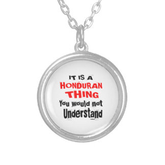 IT IS HONDURAN THING DESIGNS SILVER PLATED NECKLACE
