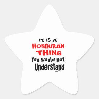 IT IS HONDURAN THING DESIGNS STAR STICKER