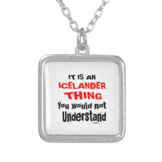 IT IS ICELANDER THING DESIGNS SILVER PLATED NECKLACE