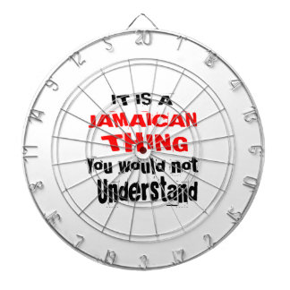 IT IS JAMAICAN THING DESIGNS DARTBOARD
