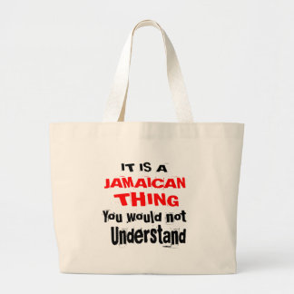 IT IS JAMAICAN THING DESIGNS LARGE TOTE BAG