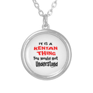 IT IS KENYAN THING DESIGNS SILVER PLATED NECKLACE