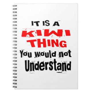IT IS KIWI THING DESIGNS SPIRAL NOTEBOOK
