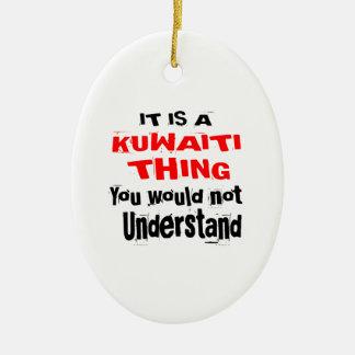 IT IS KUWAITI THING DESIGNS CERAMIC ORNAMENT