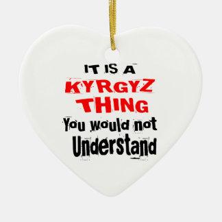 IT IS KYRGYZ THING DESIGNS CERAMIC ORNAMENT