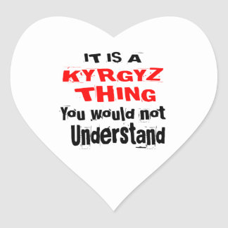 IT IS KYRGYZ THING DESIGNS HEART STICKER
