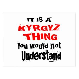IT IS KYRGYZ THING DESIGNS POSTCARD