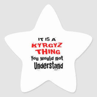 IT IS KYRGYZ THING DESIGNS STAR STICKER