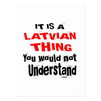 IT IS LATVIAN THING DESIGNS POSTCARD