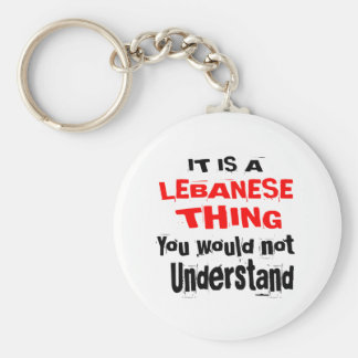 IT IS LEBANESE THING DESIGNS KEYCHAIN