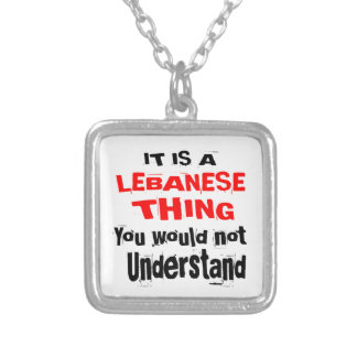 IT IS LEBANESE THING DESIGNS SILVER PLATED NECKLACE