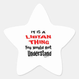 IT IS LIBYAN THING DESIGNS STAR STICKER
