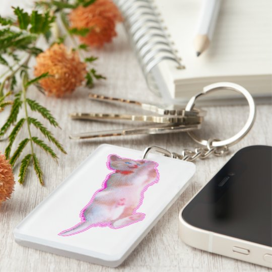 It is lovely time of the cat kitten [When the cat Single-Sided Rectangular Acrylic Keychain
