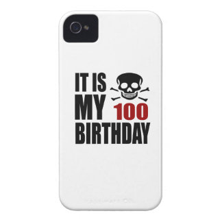 It Is My 100 Birthday Designs Case-Mate iPhone 4 Case