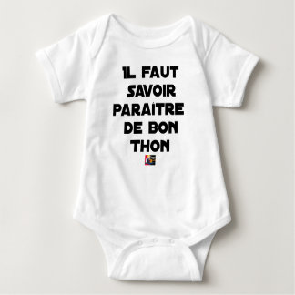 IT IS NECESSARY TO KNOW TO APPEAR OF GOOD TUNA - BABY BODYSUIT