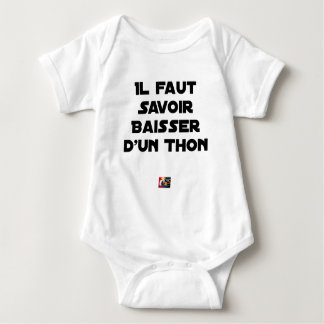 IT IS NECESSARY TO KNOW TO DROP By a TUNA - Word Baby Bodysuit