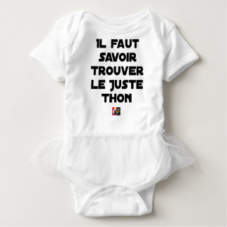 IT IS NECESSARY TO KNOW TO FIND RIGHT TUNA - Word Baby Bodysuit