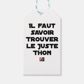 IT IS NECESSARY TO KNOW TO FIND RIGHT TUNA - Word Gift Tags