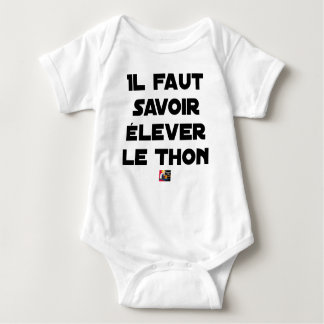 IT IS NECESSARY TO KNOW TO RAISE TUNA - Word games Baby Bodysuit