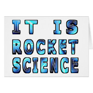 It Is Rocket Science In 3D Card