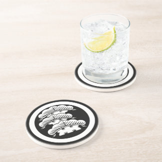 It is rough in the circle the branch attaching beverage coasters