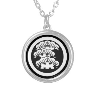 It is rough in the circle the branch attaching silver plated necklace