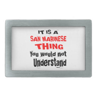 IT IS SAN MARINESE THING DESIGNS RECTANGULAR BELT BUCKLES