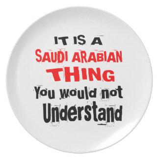 IT IS SAUDI ARABIAN THING DESIGNS PLATE
